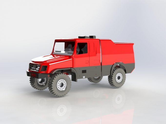 Model auta vytištěný tiskárnou