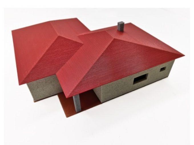 Model domu vytištěný 3D tiskárnou